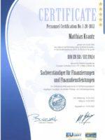2020 Zertifikat Sachverständiger